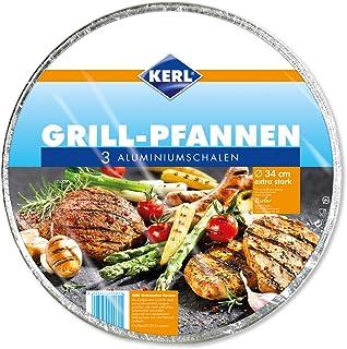 Kerl 4003450040615 - Juego de 3 sartenes para barbacoa (extra fuertes, aluminio)