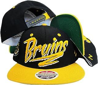 Boston Bruins Black/Yellow Two Tone Plastic Snapback Adjustable Plastic Snap Back Hat/Cap