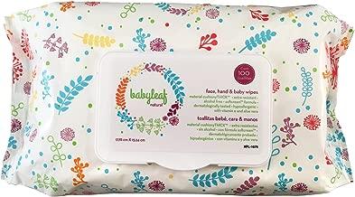 Toallitas Humedas - Babyleaf - Naturales 400 unidades (17.78 x 15.24cms.) (Contiene cuatro paquetes de 100 toallitas cada uno)