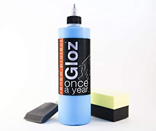 GLOZ : : Once A Year - Restorer Plastic, and Vinyl, Renew Color, Prevents Tire Dry Rot – Weather- and Salt-Proof, UV Block, High Gloss Dry-Seal – 16oz Kit