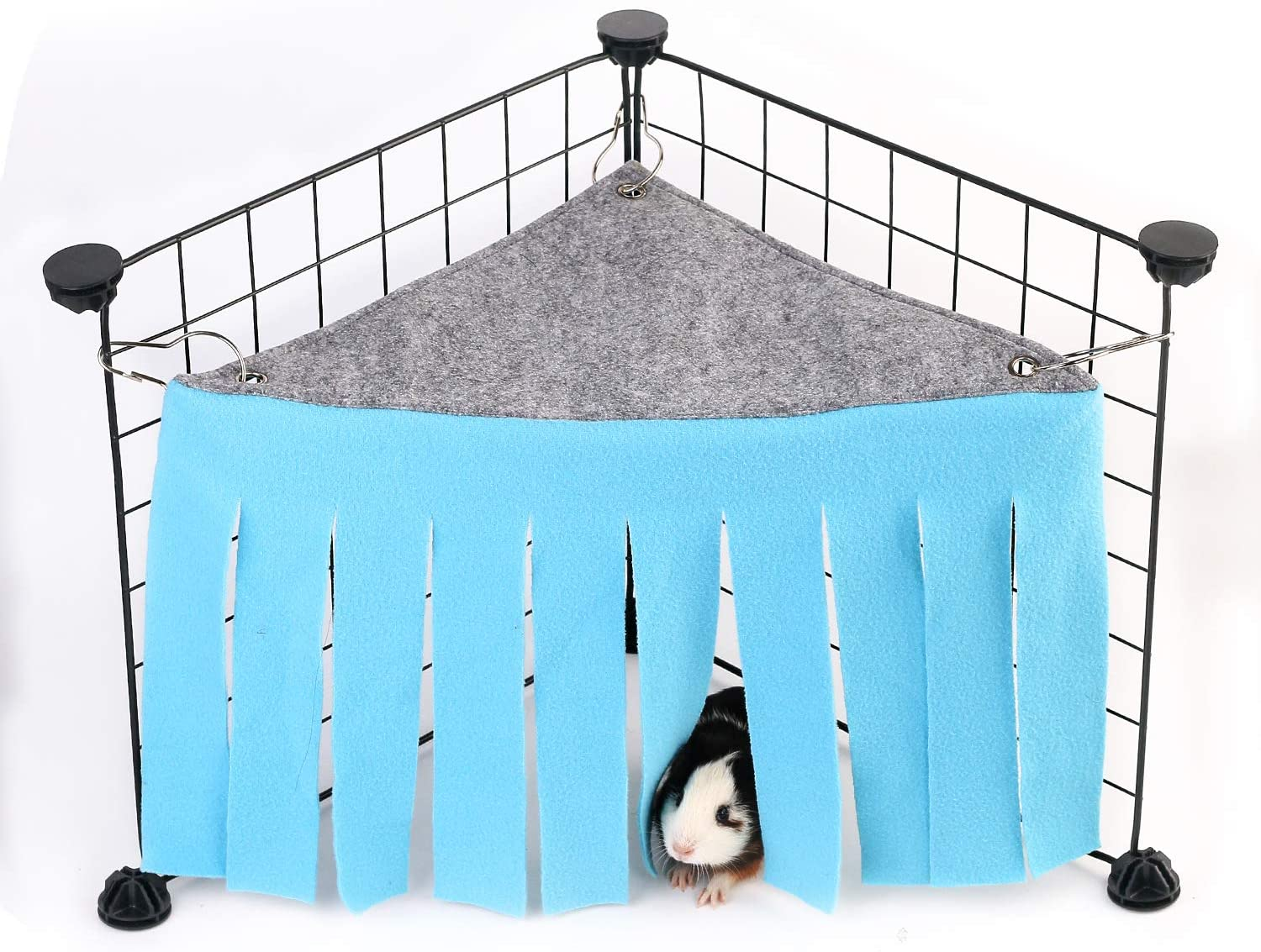 Beewarm Inexpensive Guinea Pig Hideaway Corner Fleece for Hideout Max 73% OFF Forest Fer