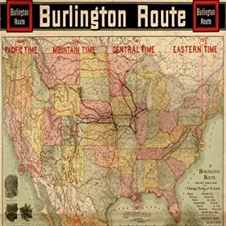 Burlington Route with Time Zones - 1892 This map is issued by the Passenger Department of the Chicago Burlington & Quincy ...