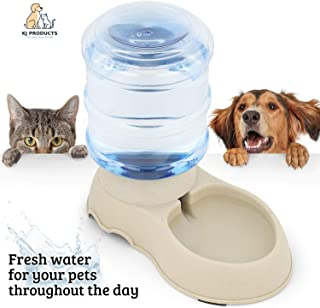 Automatic Pet Water Dispenser - 3.5 Litre Dog or Cat Gravity Water Drinking Fountain with Non Skid feet - Rehydrating Waterbowl for Pets Large and Small - Wide Opening for Easy Refill