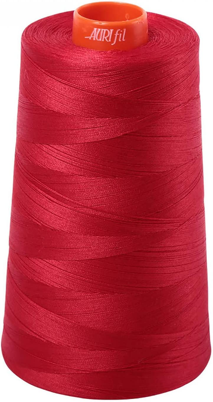 2021 autumn and winter new Aurifil 2250 Mako 50 Wt 100% Cotton 452 6 Cone Thread Red Yard Max 76% OFF