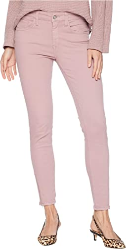 Adriana Ankle Zip Jeans in Light Rose Twill