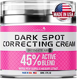 Dark Spot Remоver Cream for Intimate Areas - Body - Face - Bikini and Sensitive Areas - Made in USA - Underarm Cream with ...