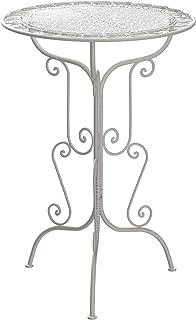 Table haute pour mariage et réception - Vintage - Blanc - 105 cm - Hauteur : 70 cm - Diamètre :