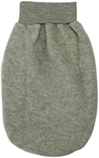 Engel Axil, Engel Axil - Saco para bebé de forro polar lana virgen ángel natural, 3colores hellgrau melange, talla: única