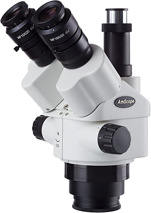Amscope 7x-45x simul-focal zoom trinoculare testa stereo microscopio SM745NTP