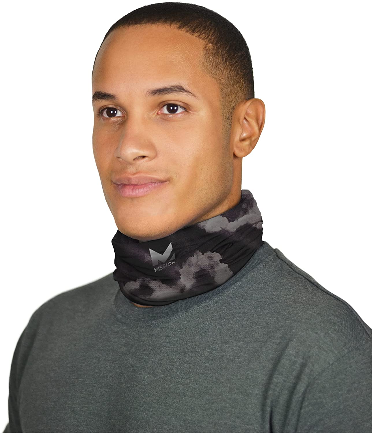 Mission Cooling Neck Gaiter Customize Your Coverage, Face Mask, Cools When Wet- Cloud Quite Shade