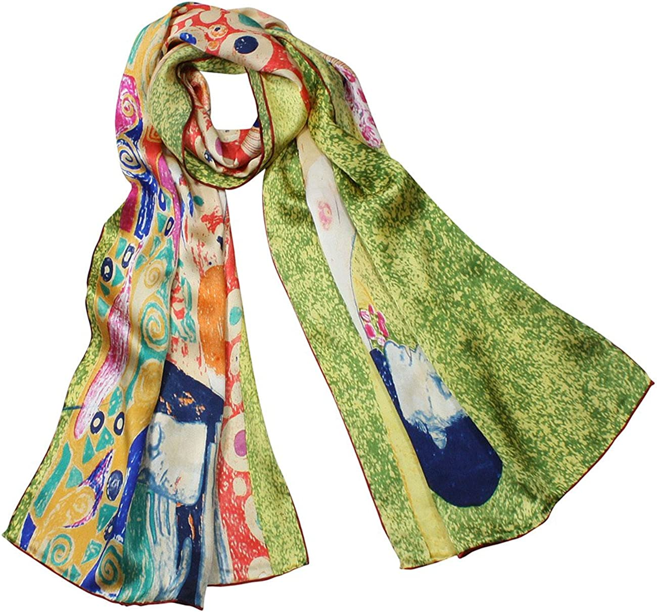 Dahlia Women's 100% Luxury Silk Scarf - Gustav Klimt's Famous Painting