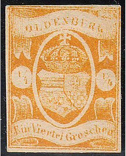 Goldhahn Oldenburg Nr. 9 ungestempelt geprüft Briefmarken für Sammler