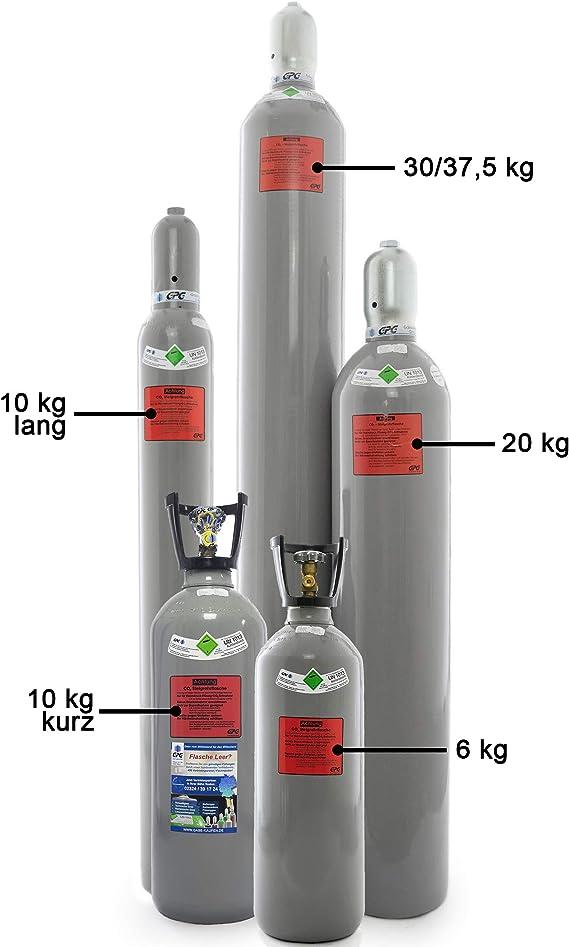 Co2 Flasche Mit Steigrohr Tauchrohr Gefüllt Mit Kohlendioxid Lebensmittelgeeignet E290 10 Kg Co2 Flasche Kurz Mit Steigrohr Baumarkt