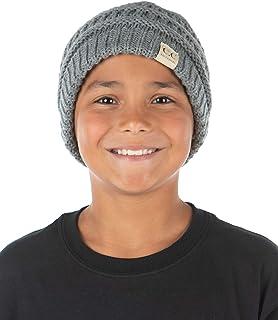 Kids NO Pom Beanie Hat - Heather Grey (LXL)