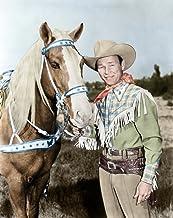 Roy Rogers (1911-1998) Nn Leonard Slye American Singing Cowboy Actor With His Horse Trigger Photograph C1945 Digitally Col...