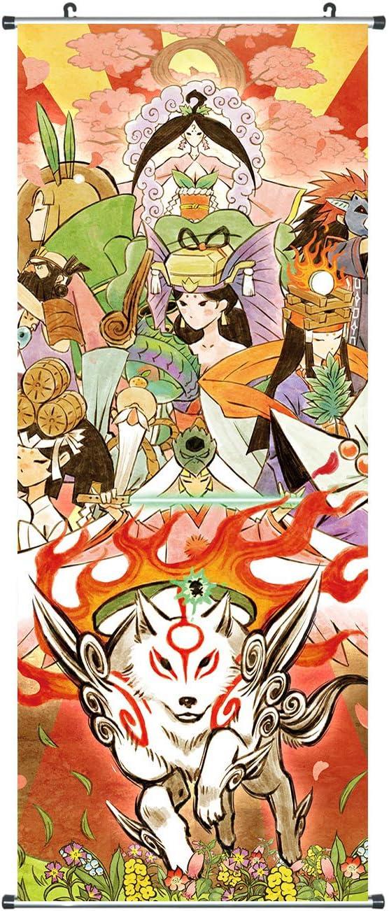 CoolChange Gran imagen de Okami I Kakemono de tela I 100 x 40 cm I Diseño: Amaterasu