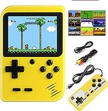 METBOM Console de Jeu Portable, Console de Jeux rétro, Mini-Jeu d'arcade, a 400 Jeux FC Classique, Prend en Charge Deux Jo...
