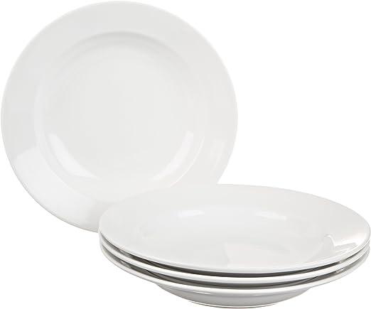 Amazon Com Bia Cordon Bleu Bistro Rim Soup Bowls Set Of 4 White Outdoor And Patio Furniture Sets Dinner Plates