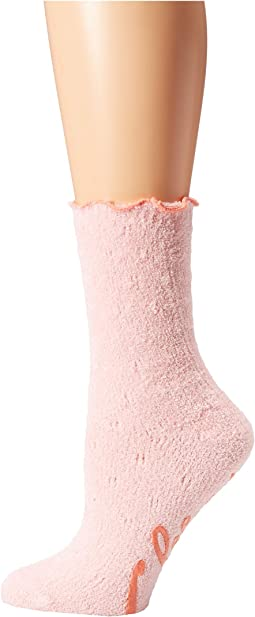 Quilted Ultra Soft Crew Slipper Sleep Sock with Grippers