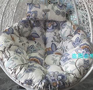 Swing Chair Cushion, Round Patio Garden Wicker Hanging Egg Rattan Chair Hammock Pad, Indoor Or Outdoor, Without Stand-u 10...