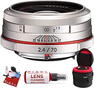 Pentax HD Pentax DA 70mm f/2.4 Limited Lens (Silver) with Heavy Duty Lens Case