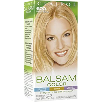 Clairol Balsam Hair Color 600 Palest Blonde 1 Kit (Pack of 3)