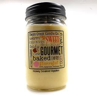 Swan Creek 100% American Soybean 24 Oz. Jar Candle - Honey Soaked Apples