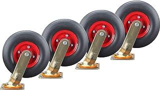 YJJT Heavy Duty wielen, zwenkwielen, kunnen 360 graden worden gedraaid, de beugel is 6 mm dik en 45 mm breed, maximale bel...