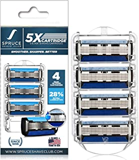 Spruce Shave Club 5X Cartridges (Pack of 4)