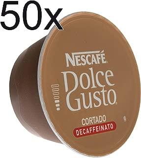 50 X Nescafé Dolce Gusto Espresso Cortado Decafeinato, Decaffeinated, Coffee Capsule, 50 Capsules