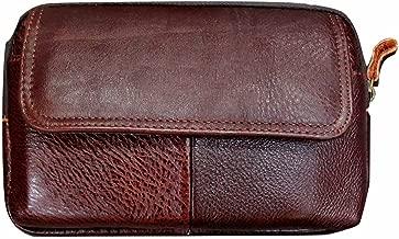 Valentoria Men's Belt Pouch Waist Fanny Packs Leather Purse Cellphone Holster Belt Waist Bag Pack for Phone and Money iPhone 7 Plus 6 Plus 8 Plus X Max Galaxy S8 S9 Plus S7 S6 Edge