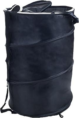 Lavish Home Breathable Pop Up Laundry Clothes Hamper, Black