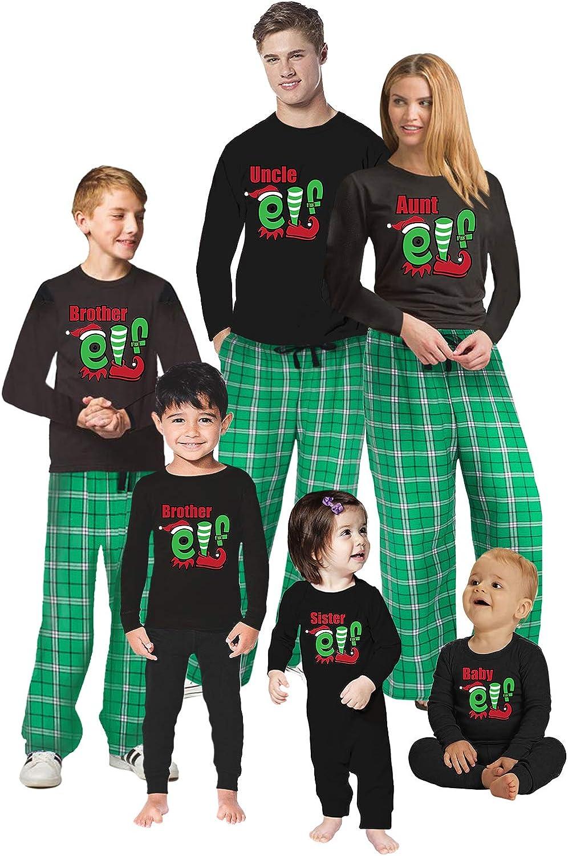 Awkward Styles Christmas Pajamas for Family Uncle Aunt Elf Matching Christmas Sleepwear Men PJ Set Style 2 L