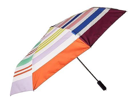 Kate Spade New York Rainbow Stripe Travel Umbrella