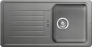 BLANCO Favos 45 S, Küchenspüle aus Silgranit, Alumetallic, reversibel / mit 3 1/2 Korbventil - ohne Ablauffernbedienung 516618