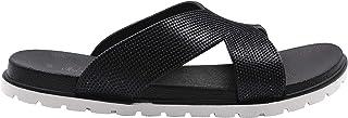 Chatties Women's Slip-On PCU Glitter Slide Sandals, Open-Toe Flat Fashion Summer Slipper Shoes