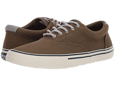 Sperry Striper II Storm CVO Duck Canvas (Olive) Men