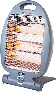 urban society Calefactor hálogeno con 2 Tubos Cuarzo, 2 Niveles de Potencia, Protección automática antivuelco, 800W