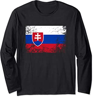 Slovakia National flag vintage gift Long Sleeve T-Shirt