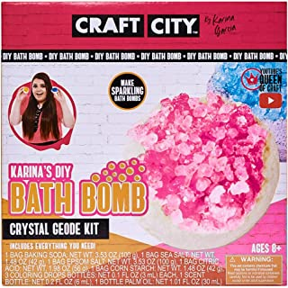 Craft City Karina Garcia DIY Make Your Own Bath Bomb Kit | Crystal Geode Craft Kit | Ages 8+
