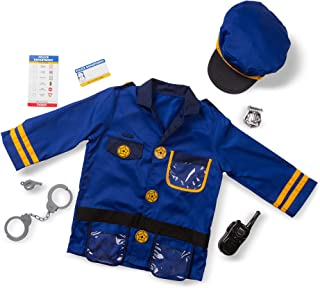 Melissa & Doug Police Officer Role-Play Costume Set (Pretend Play, Materials, Machine Washable, Great Gift for Girls and Boys - Best for 3, 4, 5, and 6 Year Olds)