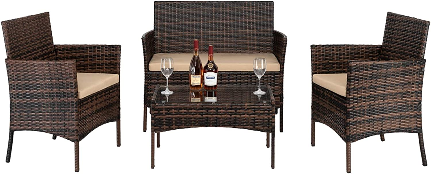 Outdoor Patio Furniture Sets Ranking integrated 1st Free shipping anywhere in the nation place 4 Rattan W Pieces Chair Set