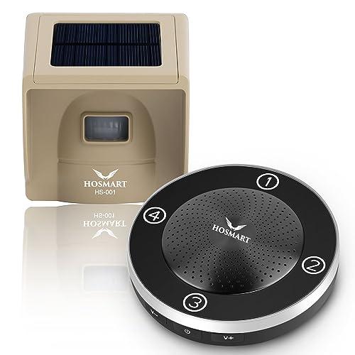 1/4 Mile Long Range Rechargable Solar driveway alarm wireless sensor System driveway sensor alert