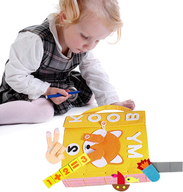 libros suaves arrugados para beb/és actividad tela para beb/és tela no t/óxica regalo para baby shower ni/ños y ni/ñas My Hut Book juguetes educativos tempranos