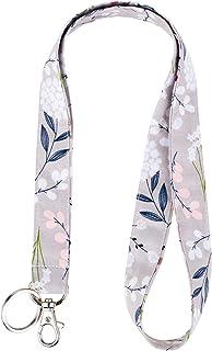 حبل قصير من Celokiy Dandelion Gray - Pink White Floral Cute Sanys، معلم، مفاتيح السيارة، حامل، بطاقة، شارة الهوية، سفينة ب...