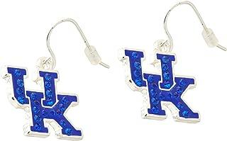 NCAA Kentucky Wildcats Women's Rhinestone UK French Wire Earrings, One Size, Silver