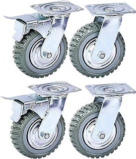 """Heavy Duty Swivel Caster Wheels, 6""""Anti-Skid Rubber Swivel Trolley Meubelwielen Met 360 Graden Kogellager Castor Wheels To..."""