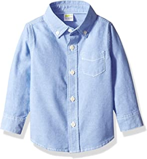 Boys' Long Sleeve Oxford Buttton Up Dress Shirt
