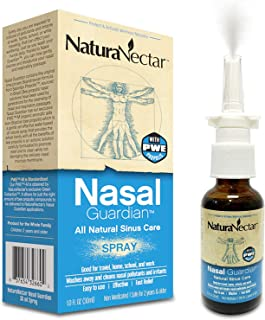 NaturaNectar Nasal Guardian Spray, All Natural Saline Nasal Spray & Sinus Rinse, Sinus Relief - Immune Support With Brazil...
