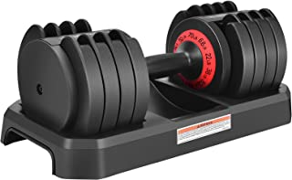 DatingDay Adjustable Dumbbell 70 Pounds with Handle and Weight Plate for Home Gym Work Out Home Training (Single)
